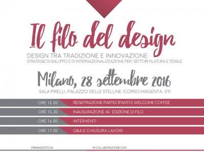 'Il Filo Del Design' – A Conference To Inaugurate Filo