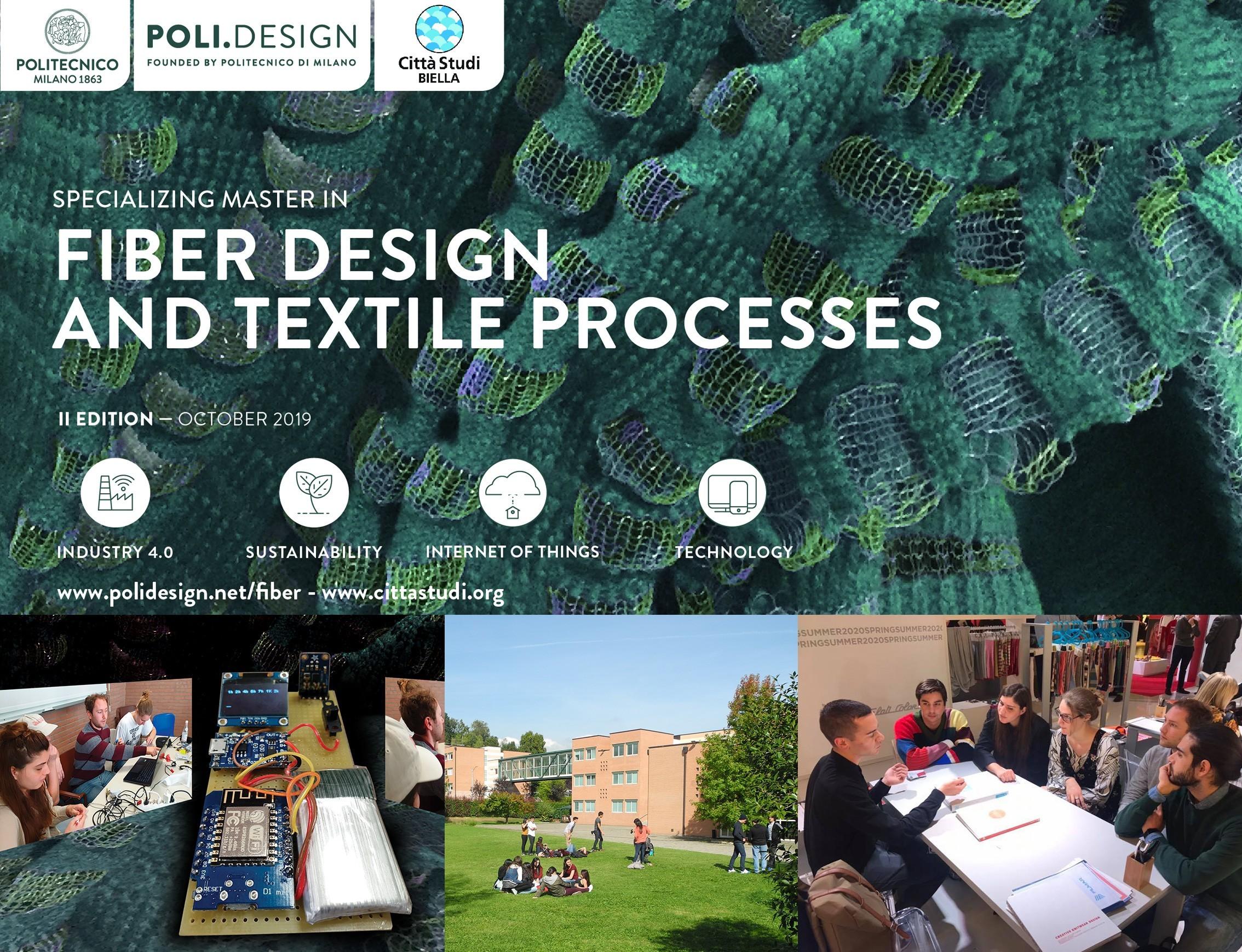 """Master In """"Fiber Design And Textile Processes"""": Le Iscrizioni Sono Aperte"""